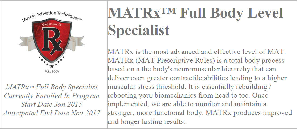 MATRX website logo information